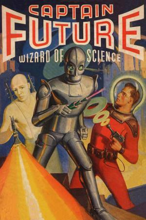 Captain Future Wizard of Science Television Plastic Sign
