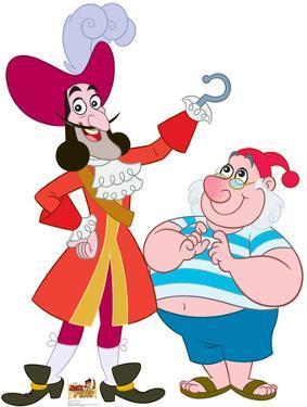 Captain Hook & Mr. Smee - Jake and the Neverland Pirates Lifesize Cardboard Cutout