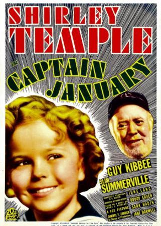 Captain January, Shirley Temple, Guy Kibbee on Midget Window Card, 1936