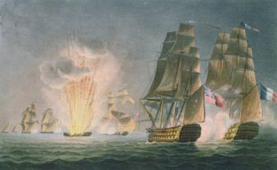 Capture of the Rivoli, 1812, the Naval Achievements of Great Britain Ralfe, c.1820