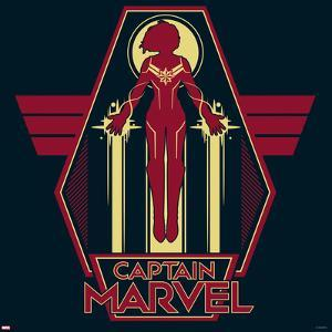 Captain Marvel - Black And Red