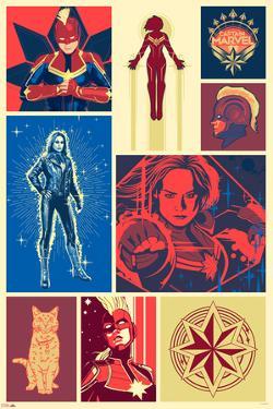 Captain Marvel - Color Block
