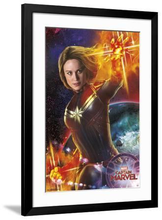 Captain Marvel - Energy--Framed Poster