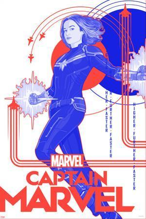 Captain Marvel - Red, White, and Blue