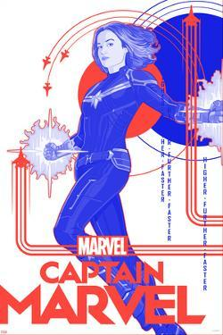 Captain Marvel - Red, White, and Blue