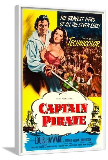 Captain Pirate--Framed Art Print
