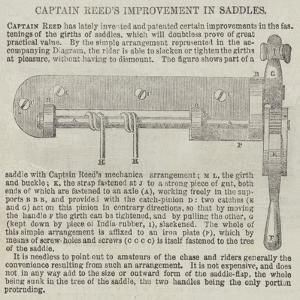 Captain Reed's Improvement in Saddles