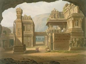Great Excavated Temple at Ellora in 1813 by Captain Robert M. Grindlay