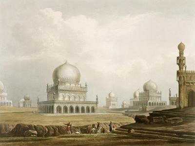 Tombs: Kings of Golconda, 1813, Etched Willis, Engraved Hunt, c.1826