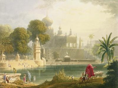 """View of Sassoor in the Deccan, from Volume II of """"Scenery, Costumes and Architecture of India"""""""