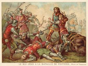 Capture of John II of France at the Battle of Poitiers, 1356