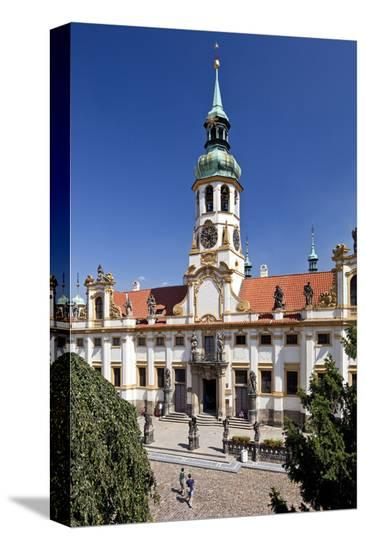 Capuchin Monastery and Church of Loreto Sanctuary on Hradcany Hill in Prague, Czech Republic--Stretched Canvas Print