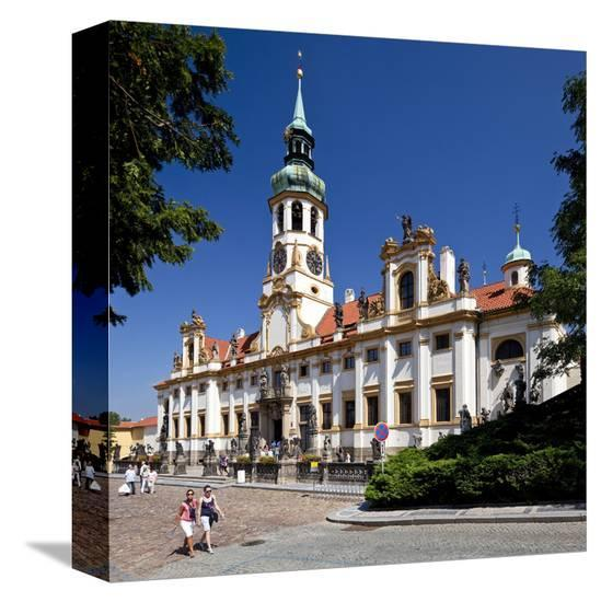Capuchin Monastery and Church of Loreto Sanctuary on Hradcany Hill in Prague, Czech Republic--Stretched Canvas