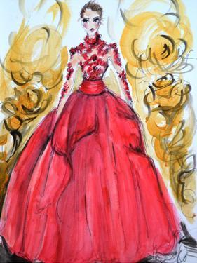 Rose Red Gown by Cara Francis