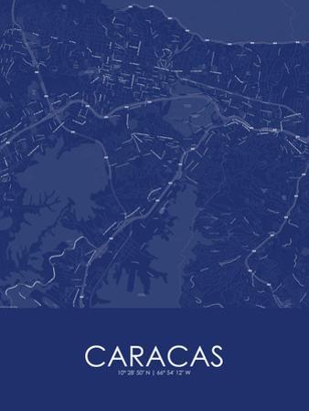 Caracas, Venezuela(Bolivarian Republic of) Blue Map
