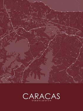 Caracas, Venezuela(Bolivarian Republic of) Red Map