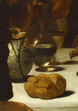 Bread and Wine, Detail from Supper at Emmaus by Caravaggio