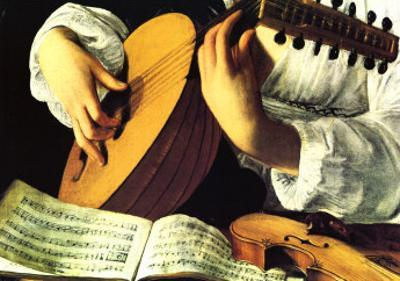 Lute Player, c. 1600 (detail) by Caravaggio
