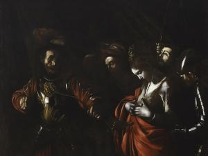 Martyrdom of Saint Ursula (Stares at Arrow in Her Chest) by Caravaggio