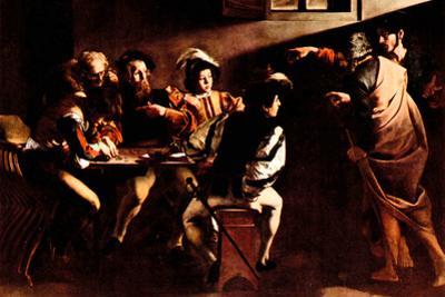 Michelangelo Caravaggio Appeals of St Matthew Plastic Sign by Caravaggio