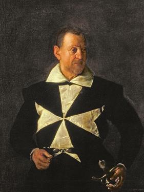 Portrait of a Knight of Malta, Possibly Fra Antonio Martelli, 1607-08 by Caravaggio