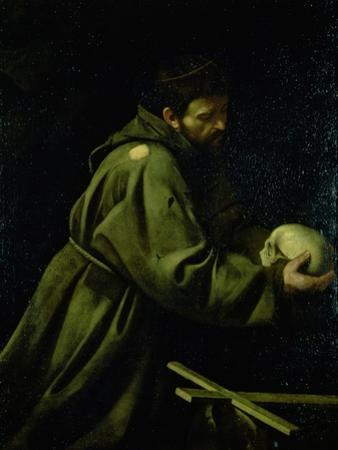 Saint Francis in Meditation by Caravaggio