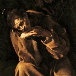 Saint Francis in Prayer by Caravaggio