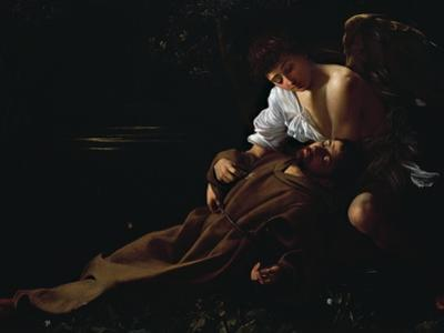 St Francis Being Comforted by an Angel after Receiving Stigmata by Caravaggio