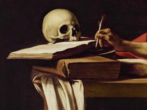 St. Jerome Writing, C.1604 (Detail) by Caravaggio