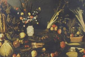 Still Life of Flowers, Fruit and Vegetables, C.1594 by Caravaggio