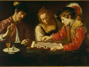 The Chess Players by Caravaggio