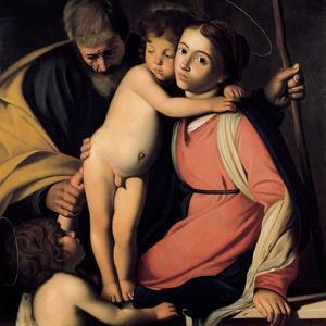 The Holy Family with John the Baptist as a Boy, Early 17th C by Caravaggio