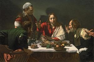 The Supper at Emmaus, 1601 by Caravaggio