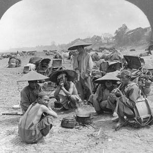 Caravan En Route for China Camping at Bhamo, Burma, 1908