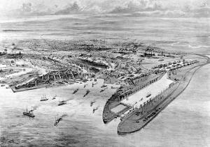 Cardiff Docks, Wales, 1907