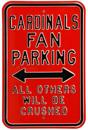 Cardinals Crushed Parking Louisville Steel Sign