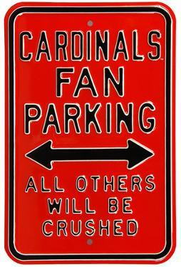 Cardinals Crushed Parking Louisville Steel Sign