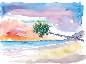 Caribbean Beach Dreams At Sunset by M Bleichner