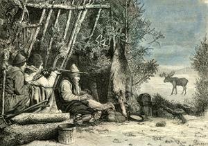 Caribou Hunt Canada 19th Century