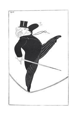 Caricature of Statesman David Lloyd George Walking a Tightrope