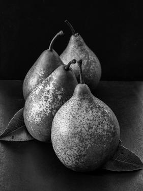 Black and White Image of 4 Pears by Carin Victoria Harris