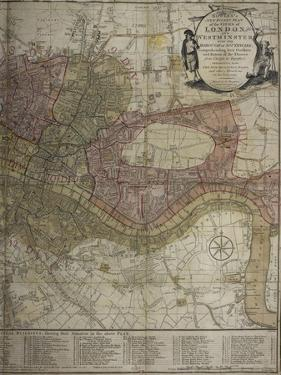 Bowles's New Pocket Plan Of London and Westminster With the Borough Of Southwark, ... by Carington Bowles