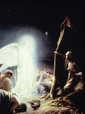 Angel and the Shepherds by Carl Bloch