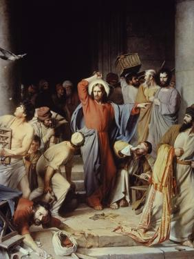 Christ Driving the Money Changers Out of Temple by Carl Bloch