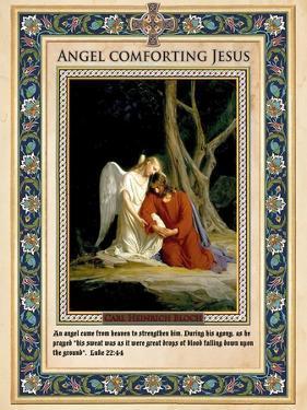 Gethsemane: Angel Comforting Jesus by Carl Bloch