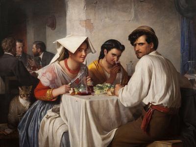 In a Roman Osteria, 1866