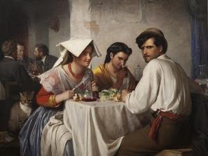 In a Roman Osteria, 1866 by Carl Bloch