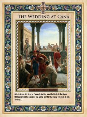The Wedding at Cana: Turning Water into Wine by Carl Bloch