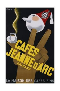 Cafes Jeanne D'Arc Poster by Carl Chew