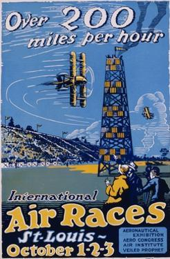 International Air Races Poster by Carl Dalter